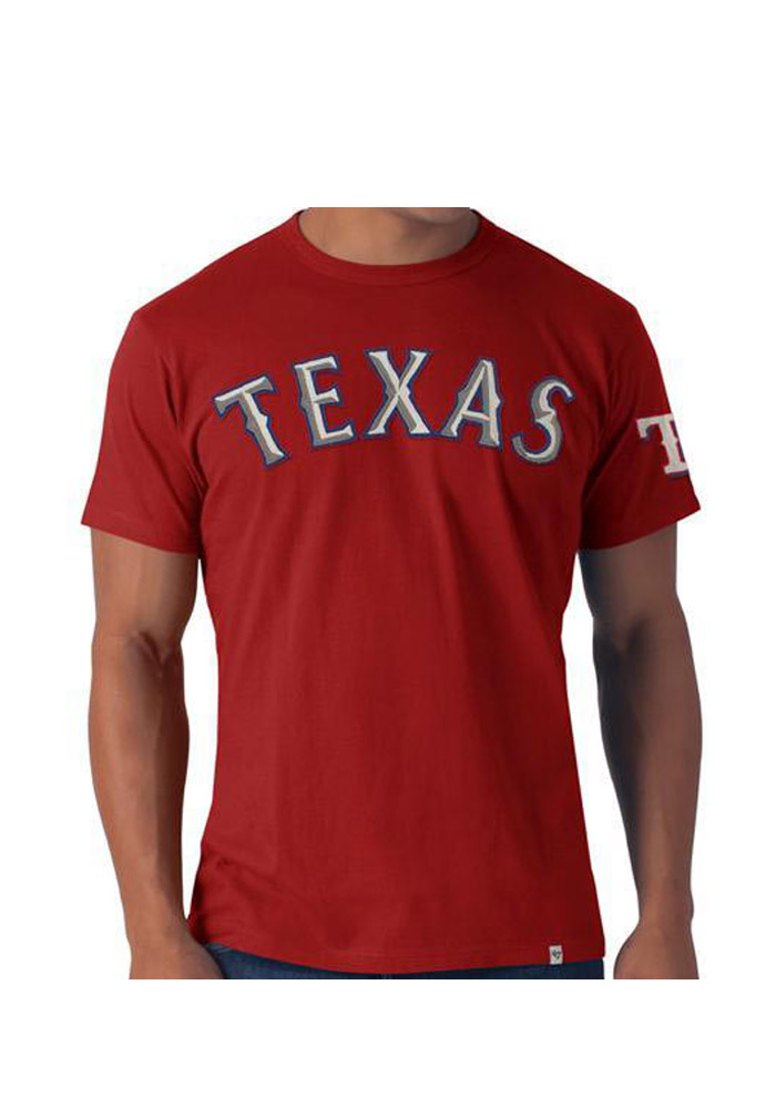47 Texas Rangers Red Fieldhouse Short Sleeve Fashion T Shirt - Image 1