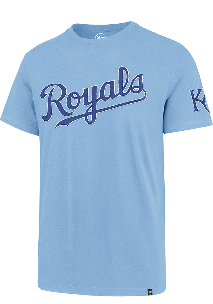 47 Kansas City Royals Light Blue Fieldhouse Short Sleeve Fashion T Shirt - Image 1