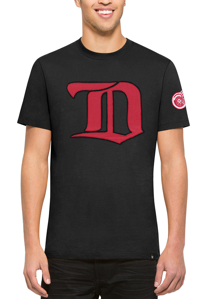 47 Detroit Red Wings Black Fieldhouse Short Sleeve Fashion T Shirt - Image 1