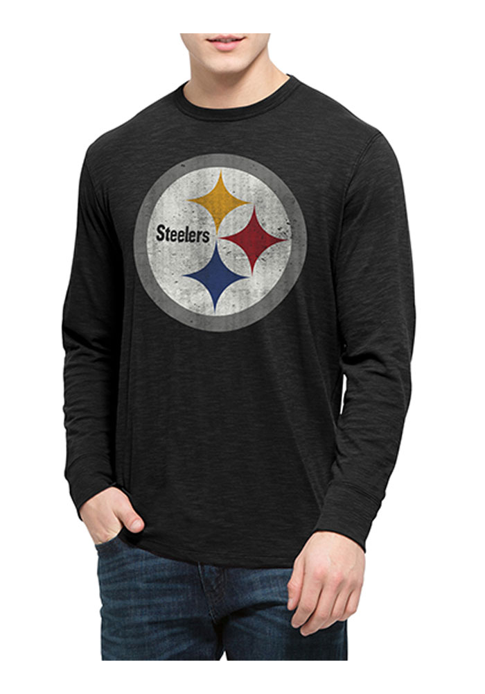 47 Pittsburgh Steelers Black Scrum Long Sleeve Fashion T Shirt - Image 1