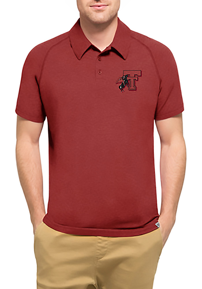 '47 Texas Tech Red Raiders Mens Red Forward Short Sleeve Polo - Image 1