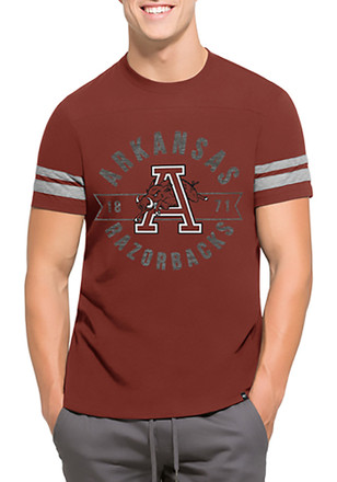 '47 Arkansas Mens Red Downfield Fashion Tee
