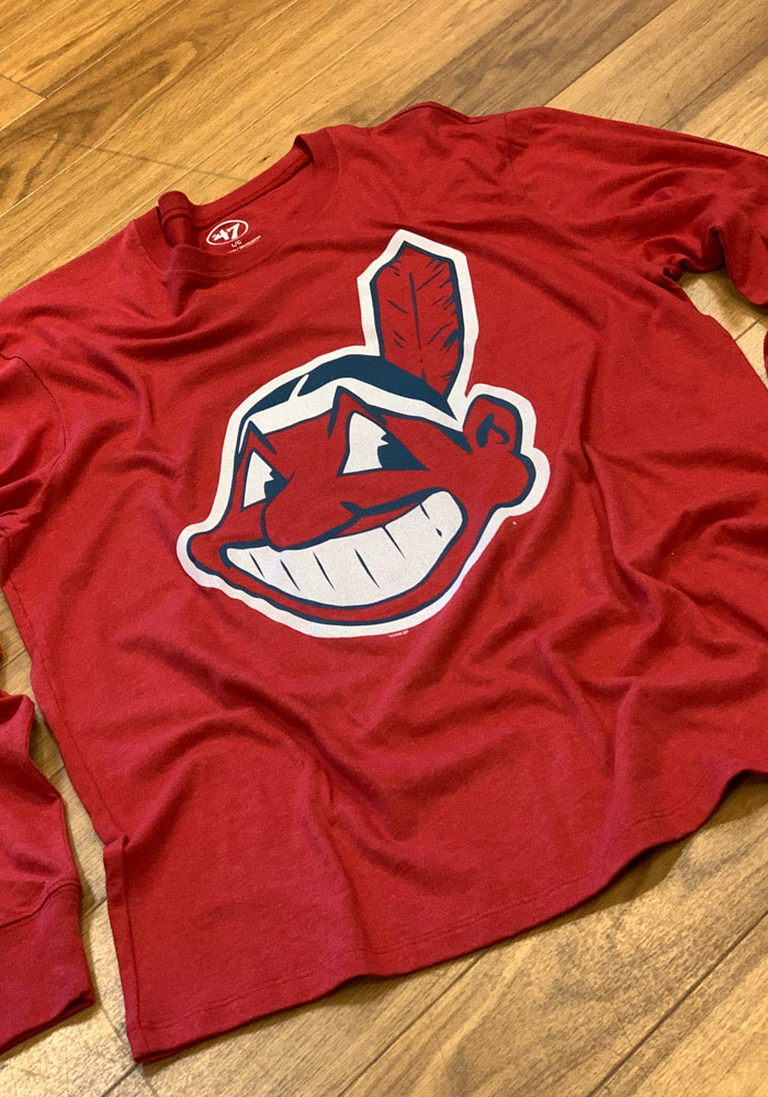 47 Cleveland Indians Red Club Long Sleeve T Shirt - Image 2