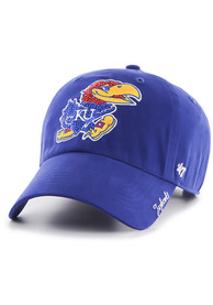 47 Kansas Jayhawks Womens Blue Sparkle Adjustable Hat