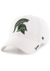 47 Michigan State Spartans Womens White Sparkle Adjustable Hat