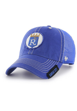 '47 Kansas City Royals Mens Blue 1971 Hooch Clean Up Adjustable Hat