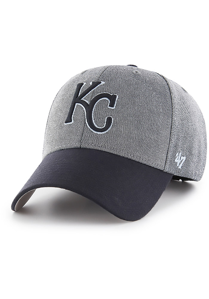 '47 Kansas City Royals Outfitter MVP Adjustable Hat - Navy Blue - Image 1