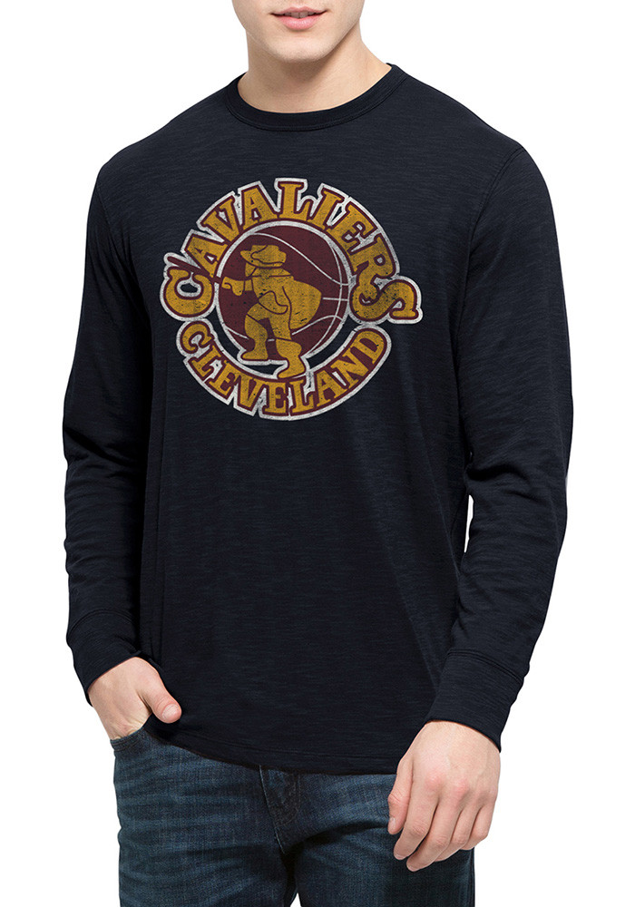 '47 Cleveland Cavaliers Mens Navy Blue Two Peat Scrum Long Sleeve Fashion T Shirt - Image 1