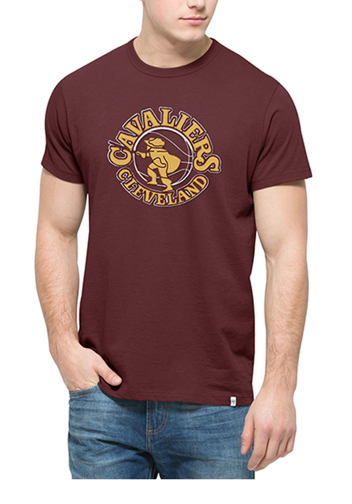 '47 Cleveland Cavaliers Mens Maroon Knockout Short Sleeve Fashion T Shirt - Image 1