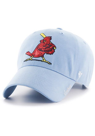 47 St Louis Cardinals Womens Light Blue 1956 Sparkle Adjustable Hat d1129490aa