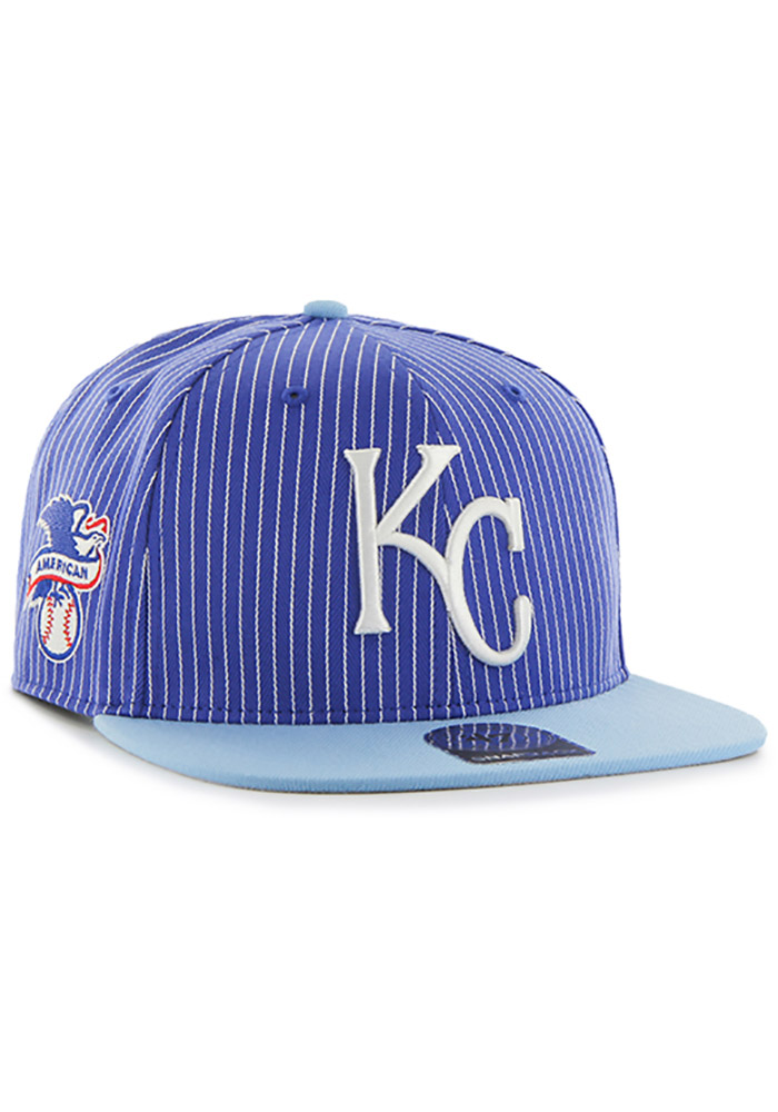 '47 Kansas City Royals Blue Woodside Hue Mens Snapback Hat - Image 2