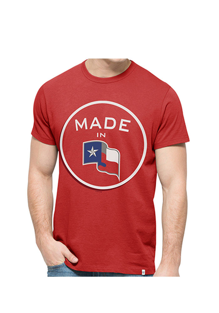 47 Texas Rangers Red Crosstown Flanker Short Sleeve Fashion T Shirt - Image 1