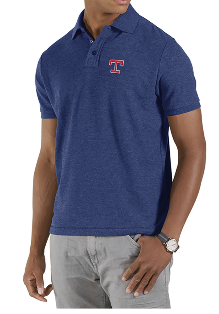 47 Texas Rangers Mens Blue huntington Short Sleeve Polo - Image 1