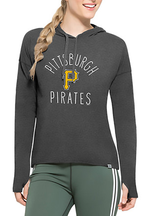 '47 Pittsburgh Pirates Womens Black Energy Lite Hoodie
