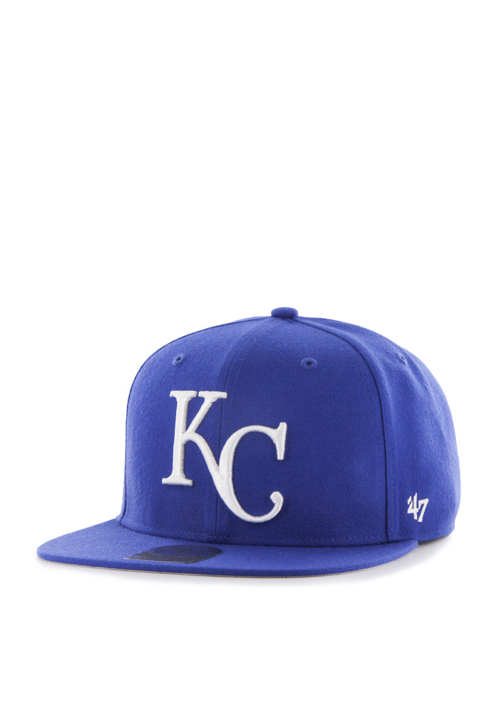 '47 Kansas City Royals Blue Sure Shot Mens Snapback Hat - Image 1