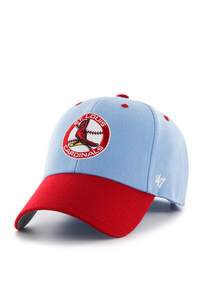 '47 St Louis Cardinals Mens Light Blue Audible Adjustable Hat - Image 1