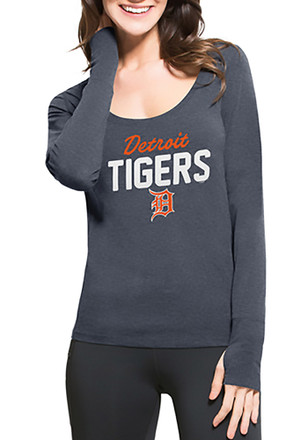 '47 Detroit Tigers Womens Navy Blue Forward Athleisure Tee