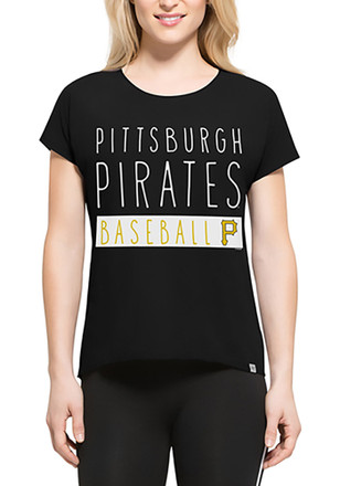 '47 Pitt Pirates Womens Black SS Athleisure Lumi Tee Tee