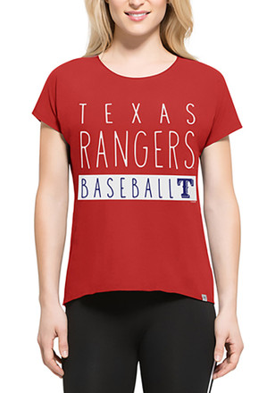 '47 Texas Rangers Womens Red SS Athleisure Lumi Tee Tee