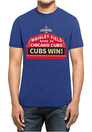 '47 Chicago Cubs Mens Blue Marquee Fashion Tee