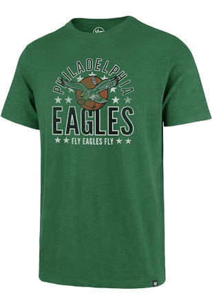 '47 Philadelphia Eagles Mens Kelly Green Scrum Fashion Tee