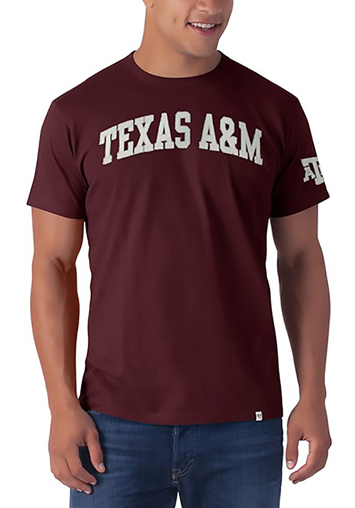 47 Texas A&M Aggies Maroon Fieldhouse Short Sleeve Fashion T Shirt - Image 1