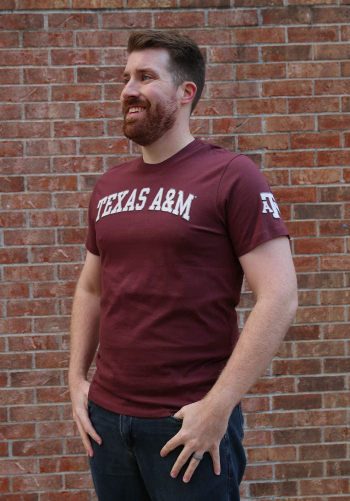 47 Texas A&M Aggies Maroon Fieldhouse Short Sleeve Fashion T Shirt - Image 2