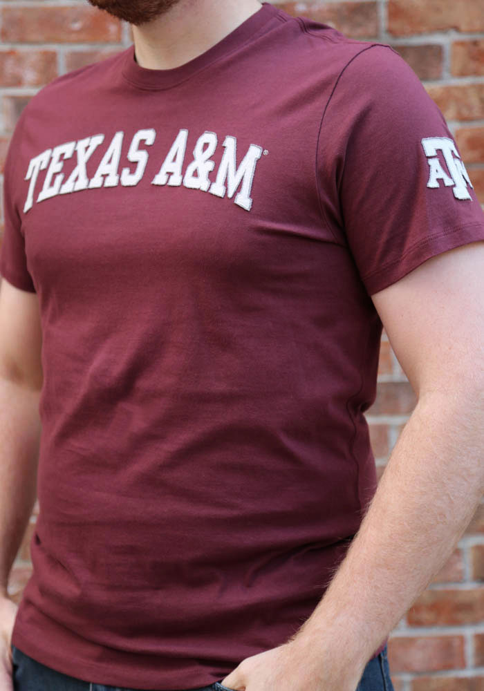47 Texas A&M Aggies Maroon Fieldhouse Short Sleeve Fashion T Shirt - Image 3