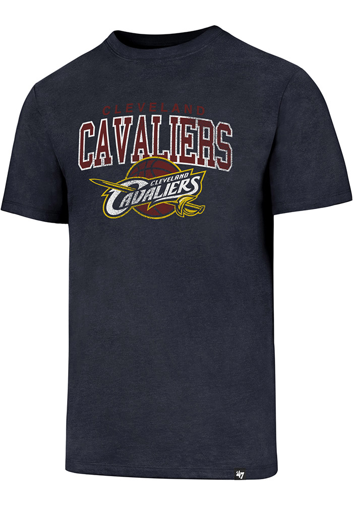 '47 Cleveland Cavaliers Mens Navy Blue Distressed Short Sleeve T Shirt - Image 1