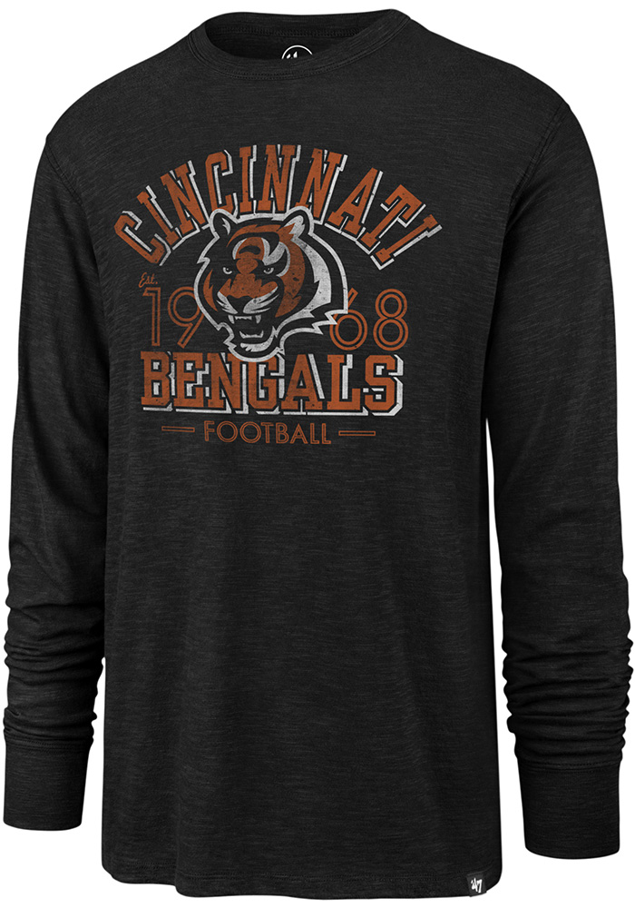 47 Cincinnati Bengals Black Number One Long Sleeve Fashion T Shirt - Image 1