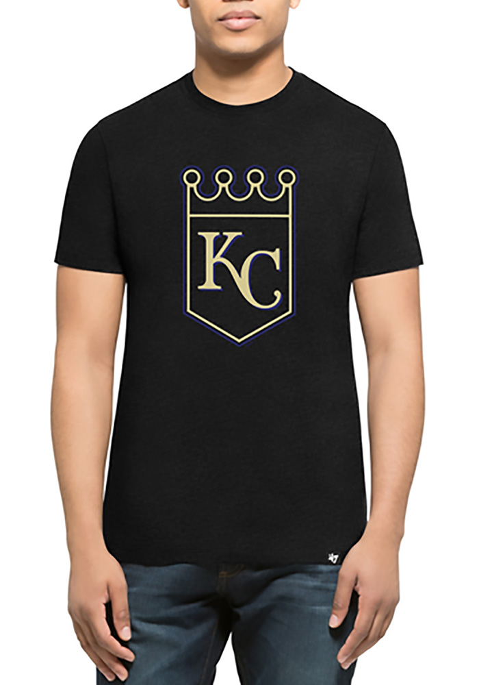 47 Kansas City Royals Black Tonal Short Sleeve T Shirt - Image 1