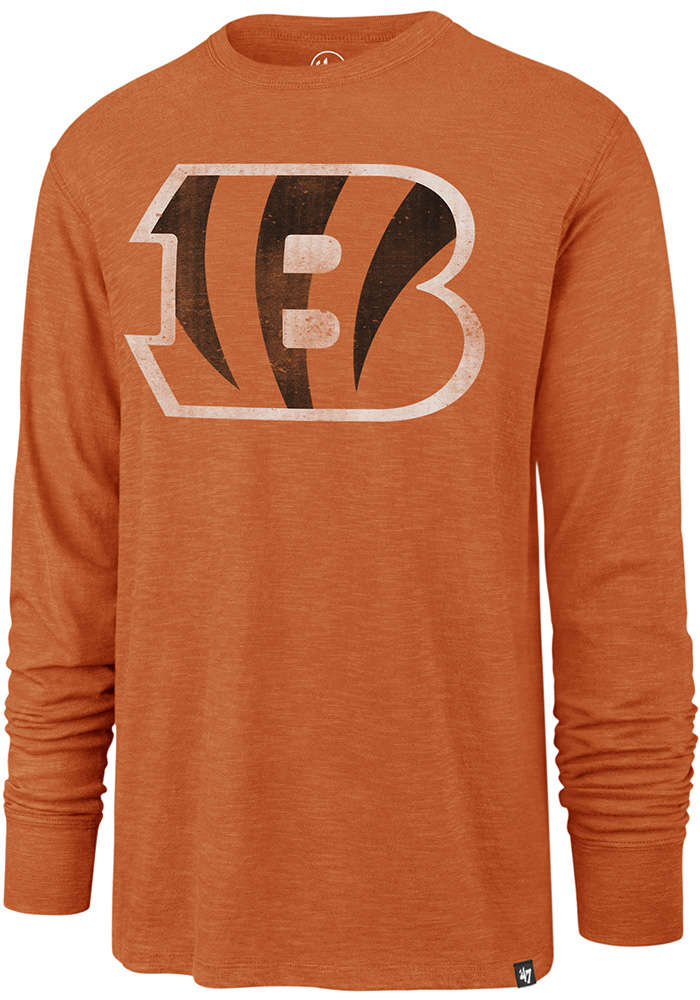 47 Cincinnati Bengals Orange Scrum Long Sleeve Fashion T Shirt - Image 1