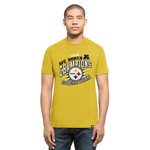 '47 Pitt Steelers Mens Yellow Division Championship Tee