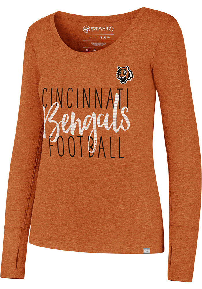 '47 Cincinnati Bengals Womens Orange Forward Athleisure Tee - Image 1