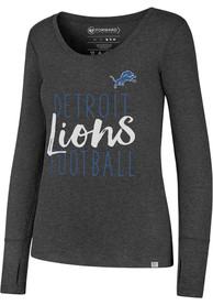 47 Detroit Lions Womens Black Forward Athleisure Tee