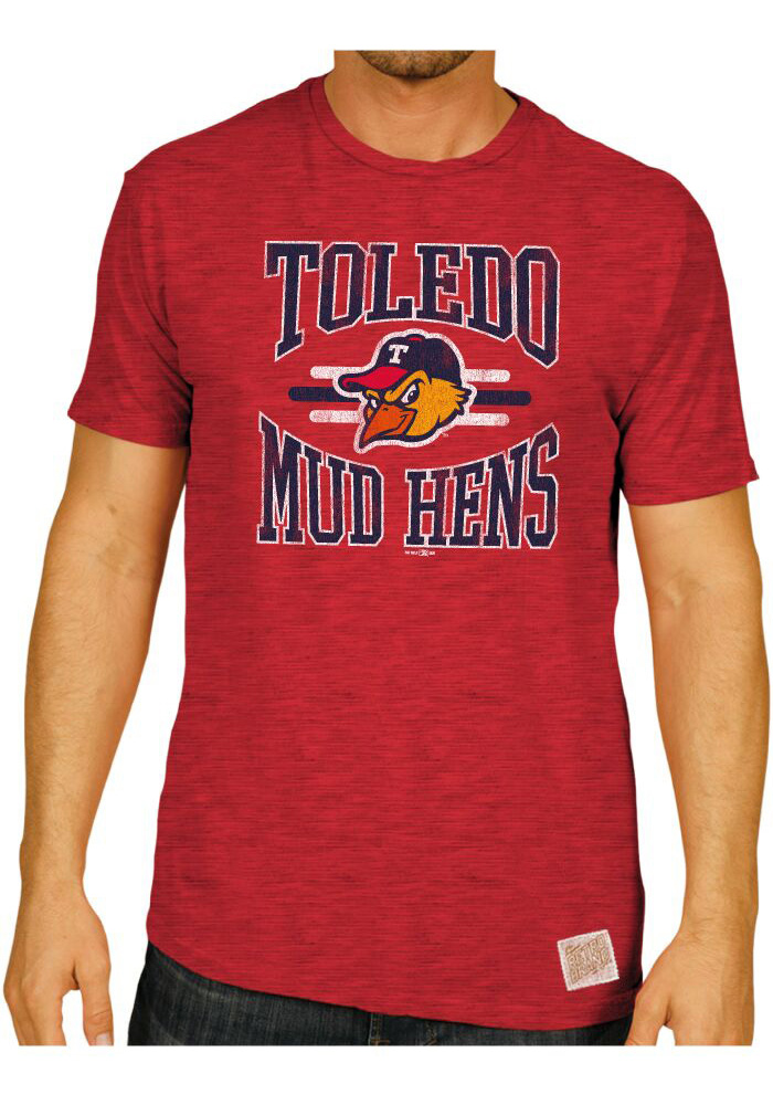Original Retro Brand Toledo Mud Hens Red MILB Short Sleeve Fashion T Shirt  - Image 1 ae852c819