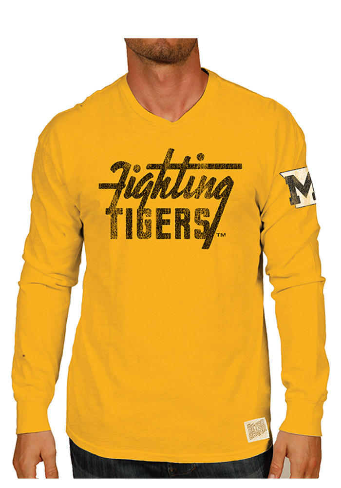 Original Retro Brand Missouri Tigers Mens Black Vintage Long Sleeve Fashion T Shirt - Image 1