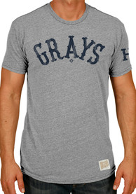Original Retro Brand Homestead Grays Grey Wordmark Fashion Tee