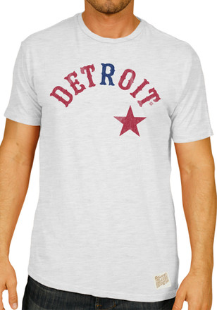 Original Retro Brand Detroit Stars Mens White Wordmark Fashion Tee