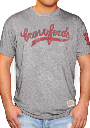 Original Retro Brand Pittsburgh Crawfords Mens Grey Wordmark Fashion Tee