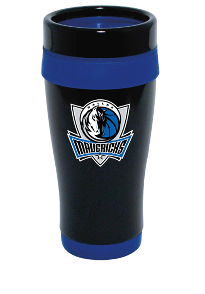 Dallas Mavericks Black Stainless Steel 16oz Travel Mug - Image 1
