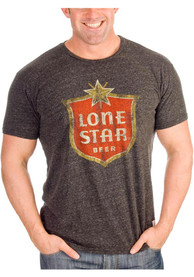 Original Retro Brand Lone Star Dark Grey Logo Short Sleeve T Shirt