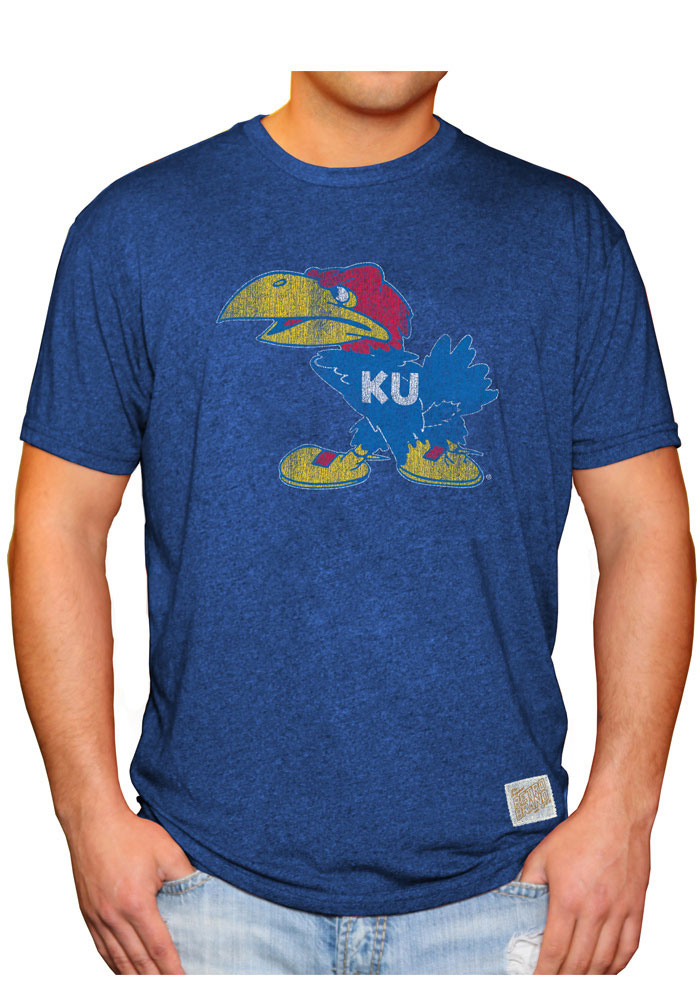 Original Retro Brand Kansas Jayhawks Blue 1941 Fashion Tee