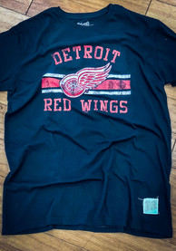 Original Retro Brand Detroit Red Wings Black Vintage Fashion Tee