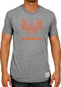 Original Retro Brand Whataburger Grey Logo Short Sleeve T Shirt