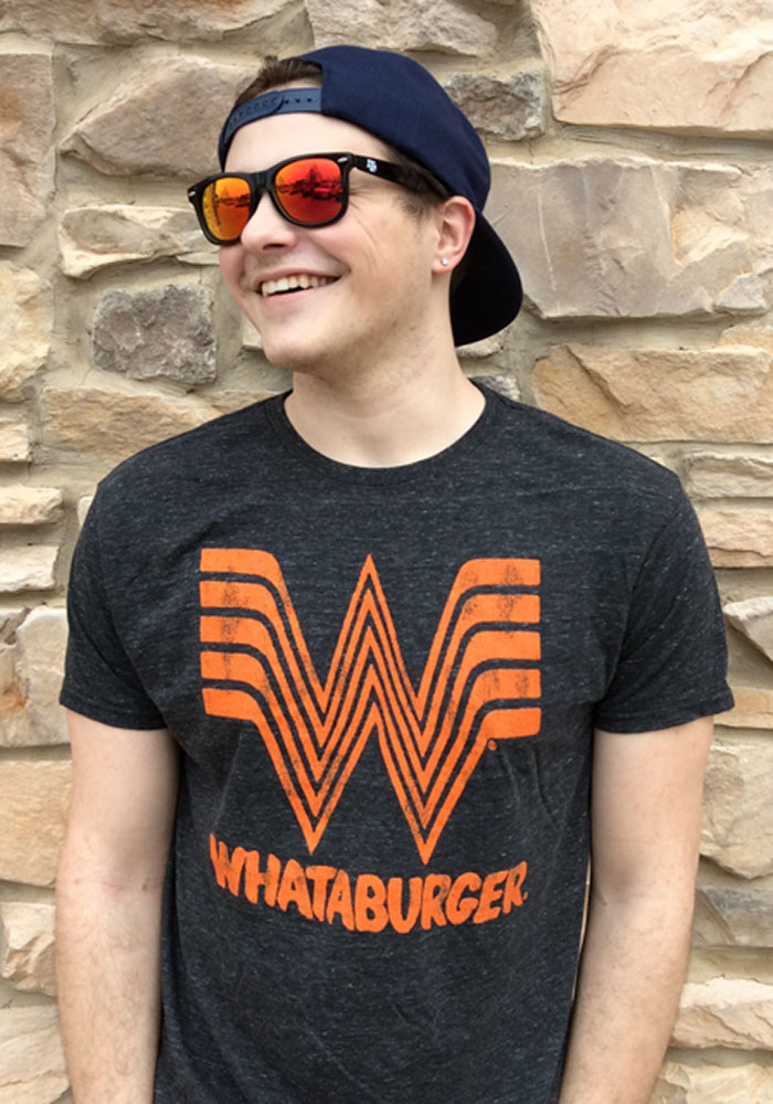 Original Retro Brand Whataburger Black Logo Short Sleeve Fashion T Shirt - Image 2