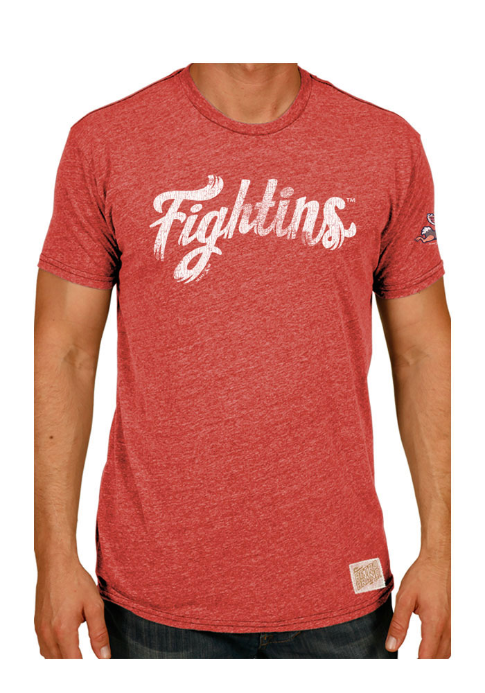 Original Retro Brand Reading Fightin Phils Red Tri-Blend Short Sleeve Fashion T Shirt - Image 1