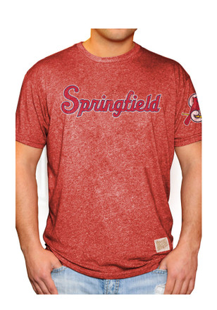 Original Retro Brand Springfield Cardinals Mens Red Mock Twist Fashion Tee