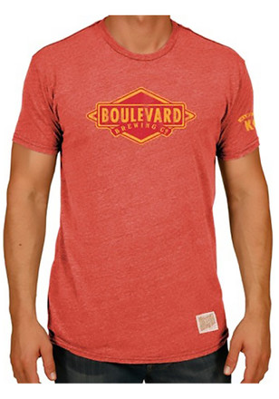 Original Retro Brand Mens Red Boulevard Short Sleeve Fashion T Shirt