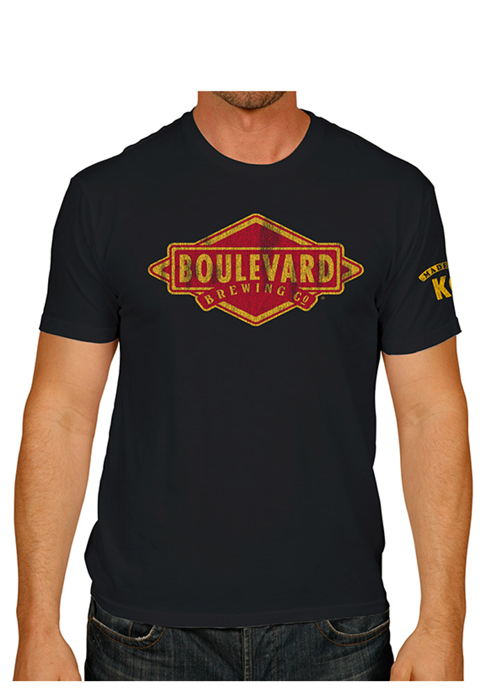 Original Retro Brand Boulevard Black Logo Short Sleeve T Shirt - Image 1